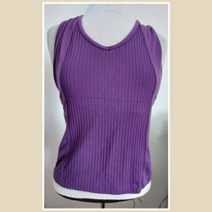 Prince Purple Athletic Tank With Build In bra larg